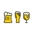beer icons collection vector image vector image