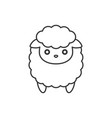 cute cartoon sheep line icon vector image vector image