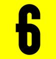 dark modern font trendy alphabet black number on vector image