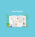 data science concept with laboratory team working vector image vector image
