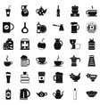 dinnerware icons set simple style vector image vector image