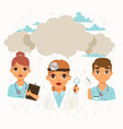 doctors team and other hospital workers with vector image vector image