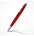 expensive red tilt pen vector image vector image