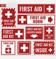 first aid set vector image vector image