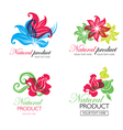 flower logo 6 vector image vector image