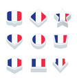 france flags icons and button set nine styles vector image