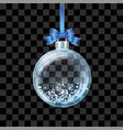 glass transparent christmas ball vector image vector image