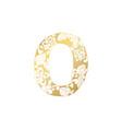 golden ornamental alphabet letter o font