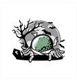 golf halloween theme vector image vector image