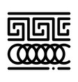 greek ornament icon outline vector image vector image