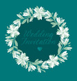 green and white floral pattern vector image vector image