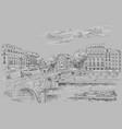 grey hand drawing paris 7 vector image vector image
