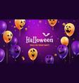 halloween happy party scary fun creepy faces vector image
