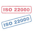 iso 22000 textile stamps vector image vector image