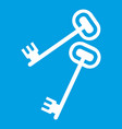 keys icon white vector image