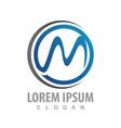 logo concept design circle letter m symbol vector image vector image