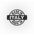 made in italy stamp on isolated background vector image