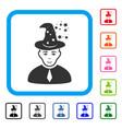 magic master framed joy icon vector image
