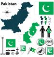 map pakistan vector image