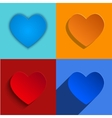 modern hearts icons set vector image vector image