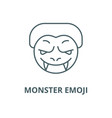 monster emoji line icon linear concept vector image
