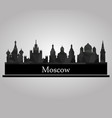 moscow skyline vector image