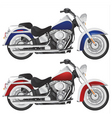 Motorcycle chopper detail vector image