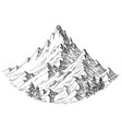 mountain peak isolated vector image vector image