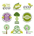 organic food logos vector image vector image