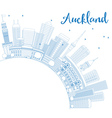Outline Auckland Skyline with Blue Buildings vector image vector image