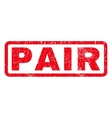 Pair Rubber Stamp vector image vector image