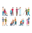 people with disabilities and friends disable vector image vector image