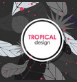 poster with tropical leaves vector image