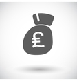 Pound sterling flat icon vector image vector image