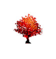 red maple tree icon isolated on white vector image vector image