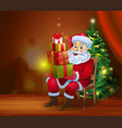 santa claus reading the book vector image vector image