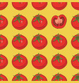 seamless pattern with ripe red tomatoes vector image vector image