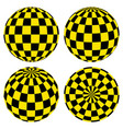 set 3d spheres pattern yellow black squares taxi vector image vector image