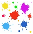 set colored blots on white background vector image vector image