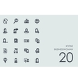 Set of businesswoman icons vector image