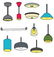 set of ceiling lamp vector image vector image