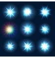 Set various forms of blue burst sparks EPS 10 vector image vector image