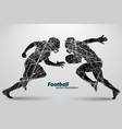 silhouette a football player rugamerican vector image