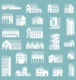 small town city pattern vector image vector image
