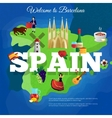 Spain Travel Flat Symbols Composition Poster vector image