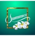 Summer retro label vector image
