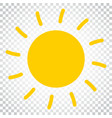 sun icon sun with ray symbol simple business vector image vector image