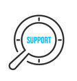 support word magnifying glass vector image