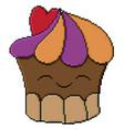 sweet cupcake design pixel art vector image