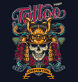 tattoo convention in tokio colorful poster vector image vector image
